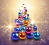 Antecedentes del árbol de navidad Imágenes de archivo libres de regalías