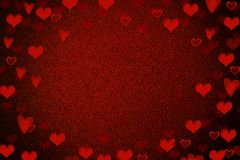 Antecedentes del corazón de la tarjeta del día de San Valentín ilustración del vector