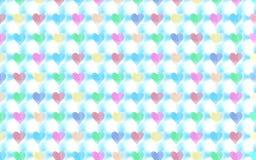 Antecedentes del corazón de la tarjeta del día de San Valentín Fotos de archivo libres de regalías