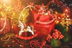 Antecedentes del día de fiesta de la Navidad Fotos de archivo libres de regalías