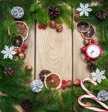 Antecedentes del día de fiesta de la Navidad Fotografía de archivo