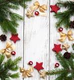 Antecedentes del día de fiesta de la Navidad Fotografía de archivo libre de regalías