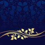 Antecedentes del ornamental de los azules marinos. Foto de archivo