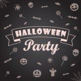 Antecedentes del partido de Halloween Vector el modelo para el diseño Fotografía de archivo