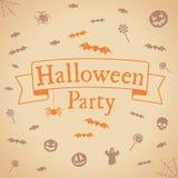 Antecedentes del partido de Halloween Vector el modelo para el diseño Fotografía de archivo libre de regalías