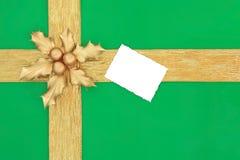 Antecedentes del regalo de la Navidad Fotos de archivo