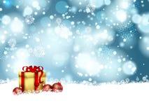 Antecedentes del regalo de la Navidad Imágenes de archivo libres de regalías