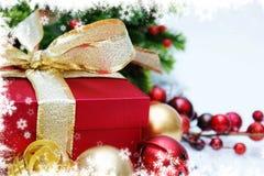 Antecedentes del regalo de la Navidad Imagen de archivo