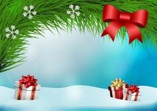 Antecedentes del vector de la Navidad ilustración del vector