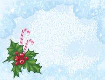 Antecedentes del vector de la Navidad Fotos de archivo
