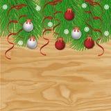 Antecedentes del vector de la Navidad Fotografía de archivo libre de regalías