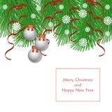 Antecedentes del vector de la Navidad Foto de archivo libre de regalías