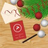 Antecedentes del vector de la Navidad Imagen de archivo libre de regalías