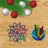 Antecedentes del vector de la Navidad Imagenes de archivo