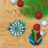Antecedentes del vector de la Navidad Imagen de archivo