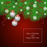 Antecedentes del vector de la Navidad Imágenes de archivo libres de regalías