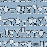 Antecedentes inconsútiles de los vidrios de consumición. Imagenes de archivo
