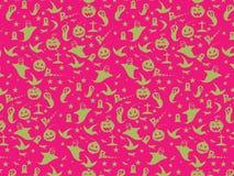 Antecedentes inconsútiles del modelo de Halloween: Ejemplo del vector Foto de archivo