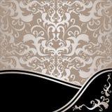 Antecedentes ornamentales de lujo: plata y negro Fotos de archivo