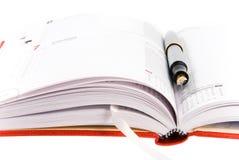 anteckningsbok öppnad penna Arkivbilder