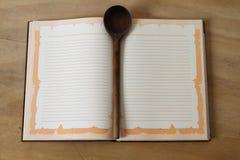 Anteckningsbok för recept royaltyfria bilder