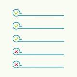 Anteckningsbok med som gör listan stock illustrationer