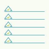Anteckningsbok med som gör listan vektor illustrationer