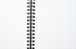 Anteckningsbok med svart tråd Arkivfoton