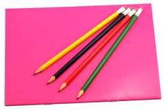 Anteckningsbok och blyertspenna Arkivbilder