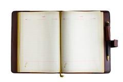 Anteckningsbok och penna royaltyfri foto