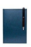 Anteckningsbok och penna royaltyfri fotografi