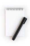 anteckningsbokblyertspenna royaltyfri foto