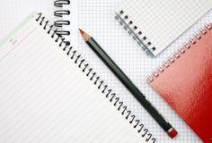 anteckningsbokblyertspenna Fotografering för Bildbyråer