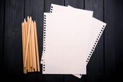 Anteckningsboken och ritar Arkivbilder