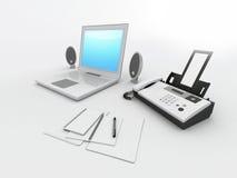 anteckningsbokkontor stock illustrationer