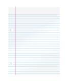 anteckningsbokpapper Arkivbild