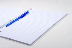 anteckningsbokpenna arkivfoto