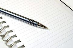 anteckningsbokpenna för 2 boll Royaltyfri Fotografi