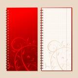 Anteckningsbokräkning och sida för din design Royaltyfri Fotografi