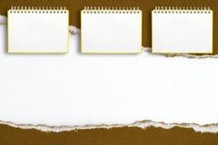 Anteckningsbokram på en vit bakgrund Royaltyfria Bilder