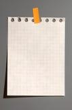 anteckningsboksida Arkivbilder
