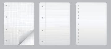 anteckningsboksidor Arkivfoton