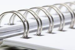 anteckningsbokspiral Fotografering för Bildbyråer