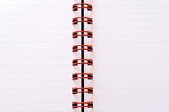 anteckningsbokspiral Arkivbilder