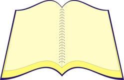 anteckningsbokvektor Arkivfoto