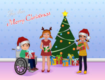 Anteil Cristmas für Special benötigt Kinder Stockbilder