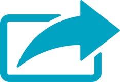 Anteil-Pfeil-Ikone Vektor Abbildung