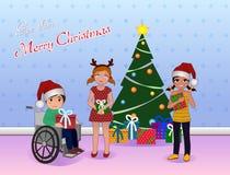Anteil-Weihnachten für Special benötigt Kinder Lizenzfreies Stockfoto