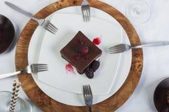 Anteilschokoladenkuchen Lizenzfreies Stockbild