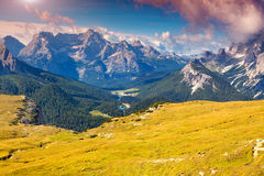 Antelao mountain range at sunny summer day. Dolomites mountains, Stock Photo